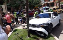 Aparatoso accidente de tránsito en el norte de Barranquilla