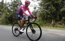 El ciclista colombiano Rigoberto Urán, quien se viene preparando en las carreteras del oriente antioqueño.