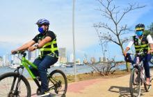El gerente de Espacio Público y Movilidad y el Departamento Administrativo de Tránsito y Transporte, Ausberto Coneo, fue uno de los que se subió a la bicicleta.