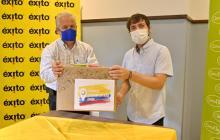 Alcalde de Barranquilla Jaime Pumarejo Heins y Carlos Mario Giraldo Moreno, presidente de Grupo Éxito.