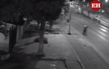 Video cámara de seguridad cuando el domiciliario iba por la Murillo.