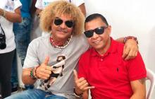 Carlos Valderrama e Iván Valenciano son grandes amigos del fútbol. Jugaron juntos en Junior y la Selección.