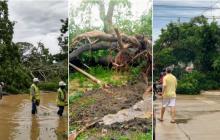 Sectores del Atlántico quedaron sin energía tras fuertes lluvias