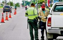 La Policía de Tránsito efectúa controles en las salidas de Barranquilla.