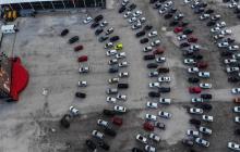 Aspecto del estacionamiento del Jeunesse Arena, que era parte del Parque Olímpico Río 2016.