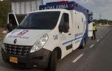 En vía Ciénaga - Santa Marta caen 120 kilos de coca en ambulancia