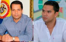 Luis Alberto Monsalvo, gobernador del Cesar, y Mello Castro, alcalde de Valledupar.