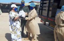 Ejército y empresas privadas entregaron ayudas a comunidades wayuu