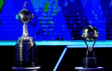 Trofeos de la Copa Libertadores de América y la Copa Sudamericana.