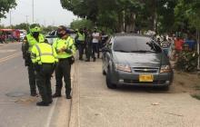 El vehículo que atropelló a la menor de edad.