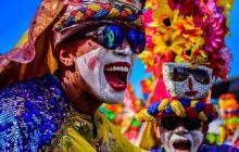 Coloridos Guerreros, imagen de la reportera gráfica Mery Granados.