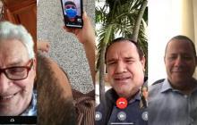 Videollamadas de hijos con sus padres a la distancia.