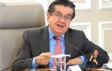El ministro de Salud, Fernando Ruiz, cuando citaba el resultado de Cartagena sobre coronavirus.