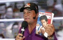 Roberto Durán en la presentación de su biografía en noviembre de 2016.