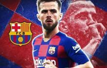 Imagen que montó el Barcelona para anunciar el fichaje de Pjanic.