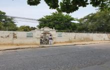 Fachada de un cementerio en Cartagena