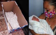 Luz Dary Sanguino encontró al bebé abandonado en una caja de cartón en la puerta de su casa.