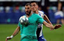 Benzema en acción en el último juego del Real Madrid contra el Espanyol.