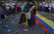 Manifestación en Barranquilla contra el asesinato de líderes sociales.
