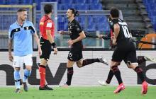 Zlatan fue la figura del AC Milan en el triunfo ante la Lazio.