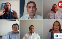 Ricardo Plata, Carlos Sarabia, Marcos Páez, David López, Carlos Gardeazabal y Marisol Neira.