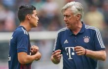 James cuando fue dirigido por Ancelotti en el Bayern Munich.