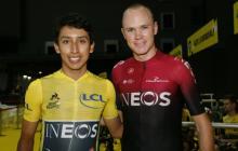 El británico Foome junto al colombiano Egan Bernal.