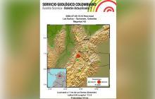 Nuevo temblor de magnitud 4.6 sacude al país