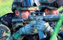 Miembros de la infantería en un entrenamiento.