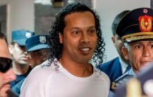 Ronaldinho Gaucho, con prisión domiciliaria en Paraguay.