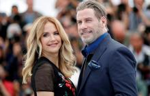 El actor John Travolta y su esposa Kelly Preston durante el Festival de Cannes en 2018.