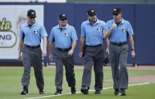 Algunos árbitros que actúan en las Grandes Ligas.