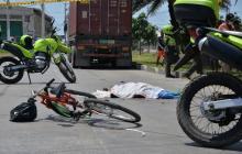 Hombre muere tras ser arrollado por un camión en el Corredor Portuario