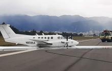 Aeronave de la DEA aterrizó de emergencia en El Dorado