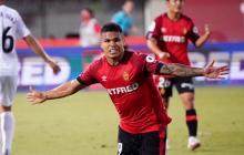 Juan Camilo 'Cucho' Hernández celebrando un gol con el Mallorca.