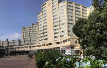 Fachada del Hospital Militar.