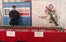 Ejército encuentra material explosivo del ELN en Maicao