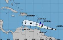 Tormenta Gonzalo se moverá sobre el Mar Caribe este domingo