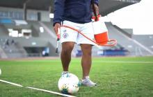 Los jugadores del fútbol ecuatorianos vienen entrenando desde hace varias semanas bajo medidas de bioseguridad.
