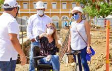 Obras de la nueva plaza de Puerto Colombia se ejecutan a toda marcha