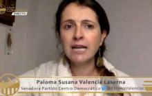 La senadora Paloma Valencia durante la plenaria del Senado de este martes.