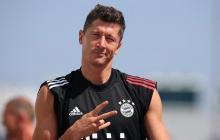 Robert Lewandowski, principal arma ofensiva del Bayern Munich.
