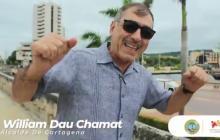 El alcalde William Dau celebra los buenos resultados del COVID-19 en Cartagena.