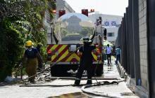 Voraz incendio deja pérdidas totales en bodega de la Vía 40