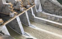 Aspecto del proyecto Hidroituango de EPM.