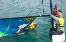 En video | Armada rescata a colombiana y a dos norteamericanos en alta mar