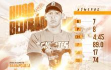 Gigantes de Barranquilla anuncia la firma del lanzador Hugo Beltrán