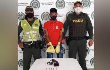 Yeison Heredia De la Cruz, capturado.