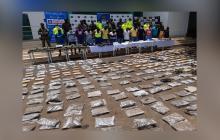 Durante los operativos realizados por las autoridades se incautaron 260 kilos de marihuana.
