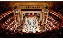 Ópera de Viena antes de su suspensión por el coronavirus.